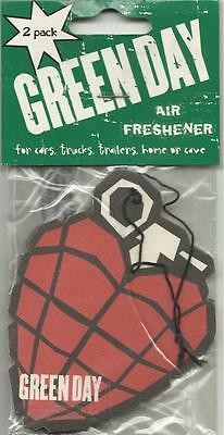 GREEN DAY grenade 2005 AIR FRESHENER 2 PACK official licensed merchandise SEALED