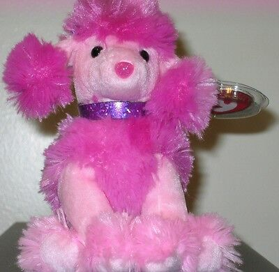 Ty Beanie Baby ~ OOH-LA-LA the Pink Poodle Dog ~ MINT with MINT TAGS ~ RETIRED