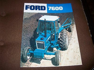 Ford 7600 Tractor Advertising Brochure Nice