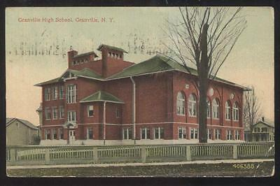 Postcard GRANVILLE  New York/NY  High School Campus Building view 1907