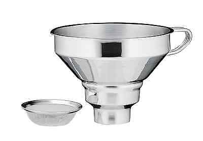 Kuchenprofi 18/10 Stainless Steel Wide Mouth Funnel With Removable Filter