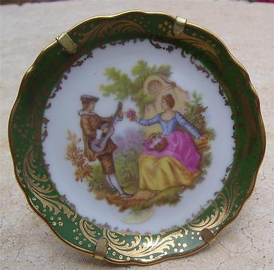 Limoges France Miniature Courting Couples Plate