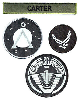 STARGATE - SG -1 - Carter Set  Uniform patch - Aufnäher original Replica 4teilig