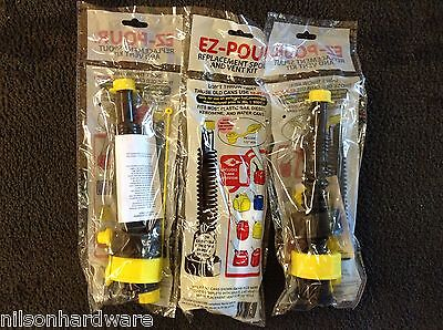 Lot of 3 10050 EZ Pour Replacement Spout Replace Old Gas Can Fuel Diesel Jug