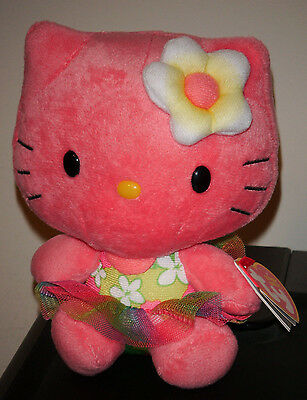 Ty Beanie Baby ~ HELLO KITTY (Rose ~ 6 inch) ~ MINT with MINT TAGS ~ NEW