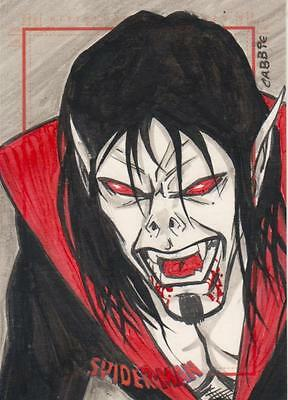 Spider-Man Archives -  Chris Bradberry ( Cabbie ) Sketch Card of Morbius