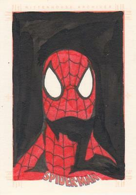 Spider-Man Archives -  Artist Unknown # 2  Sketch Card -  Spider-Man