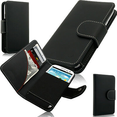 Swiss Leather Wallet and Credit Card Case XXL fits Blackberry Priv