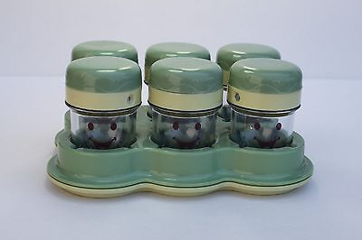 Baby Bullet 6 Cups with Date Dial Lids + Tray, NEW!
