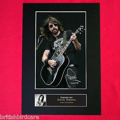 DAVE GROHL Foo Fighters Mounted Signed Photo Reproduction Autograph Print A4 77