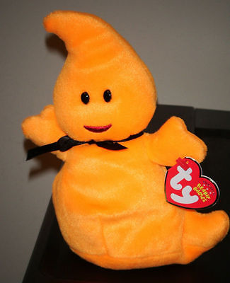 Ty Beanie Baby ~ HAUNT the Halloween Ghost ~ MINT with MINT TAG