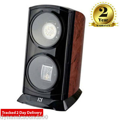 Time Tutelary KA015 Tower Dual Automatic Watch Winder For 2 Watches in BURL