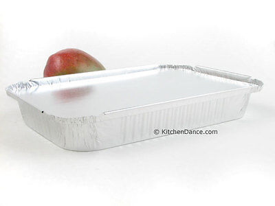 4 lb. Disposable Aluminum Food Storage/Take out Pans with Board Lids #240L