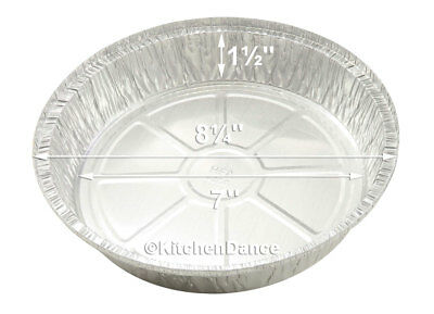 """10"""" Round Disposable Aluminum Take Out/ Food Storage Pans with Board lids #260L"""