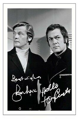 Roger Moore & Tony Curtis The Persuaders Signed Photo Print Autograph