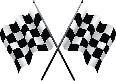 Checkered Flag Nascar Vinyl Decal / Sticker ** 5 Sizes **