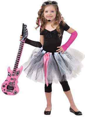 Rock Star Tutu Skirt Retro 80u0027s Fancy Dress Up Halloween Child Costume Accessory  sc 1 st  PicClick & PINK PUNK PRINCESS 80u0027s Zebra Pop Rock Star Fancy Dress Halloween ...