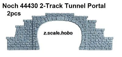 Noch Z Scale 44430 Two Stone Tunnel Portals Double Track *NEW $0 Shipping
