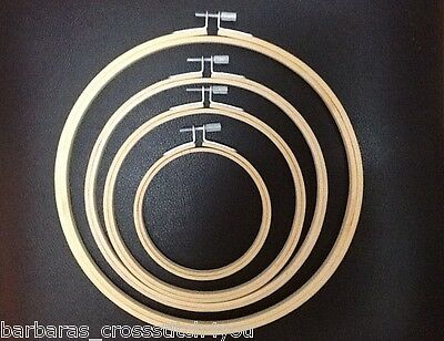 "3"" to 9""  RINGS/HOOPS FOR CROSS STITCH/TAPESTRY/EMBROIDERY"