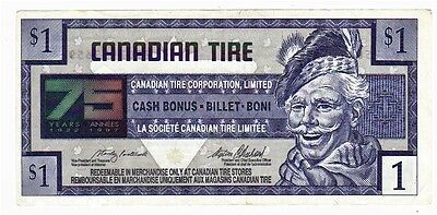 1996 $1.00 CTC CANADIAN TIRE MONEY NOTE coupon 75 years of service 7502957659