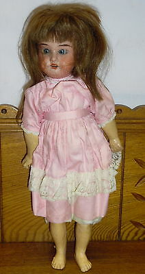 "AM 390 Bisque Head Composition Body 16"" Doll"