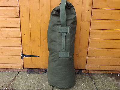 Genuine British Army Canvas Kit Bag In Green Excellent Grade 1 Condition