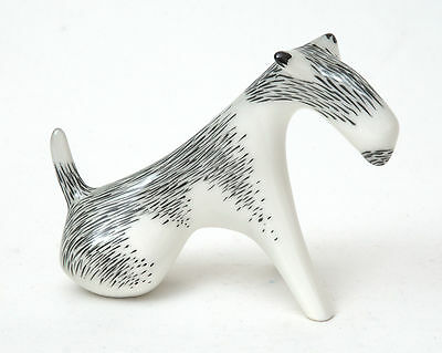 AS Cmielow (Poland) Porcelain Fox Terrier Figurine by M.Naruszewicz Nr.10