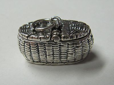 Picnic Basket Small  Sterling Silver Pill Box - New (Last One!!)