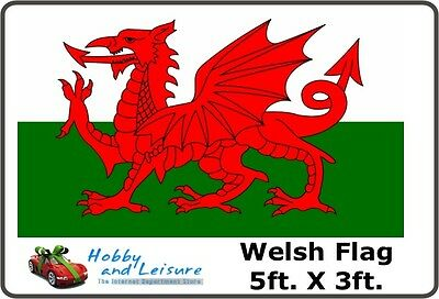 Flag,Wales Welsh Dragon approx 5ft.x 3ft.(152 x 92 cms)