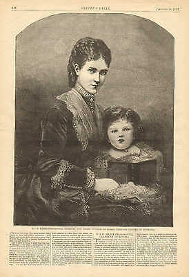 The Imperial Family Of Russia, Alexander II, 2pgs Vintage 1873 Antique Art Print