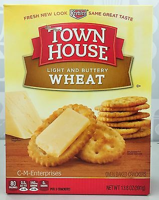 Keebler Town House Light & Buttery Wheat Oven Baked Crackers 13.8 oz