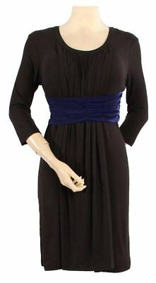 New JAPANESE WEEKEND Maternity DESK TO DINNER Empire Waist Nursing Dress S 6 8