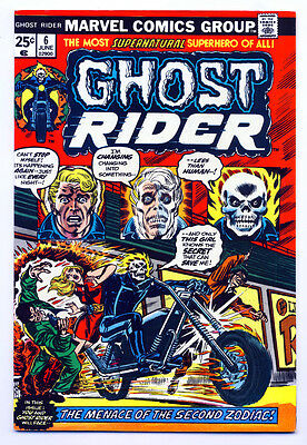 GHOST RIDER #6 VF, Marvel Comics 1974