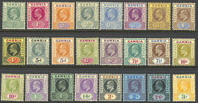 Gambia 41 to 64 complete set  - mint hinged - Edward VII