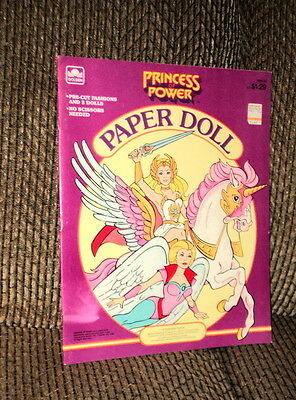 1985 Princess Of Power Paper Doll Book Complete And Uncut By Golden!