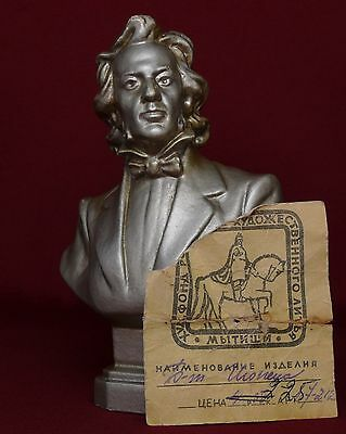Russian Soviet bust Great Polish composer & pianist Frederic CHOPIN statue USSR