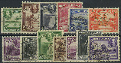 Br Guiana, SG 288/300, 1934 set to $1 fine used, complete, Cat £140.