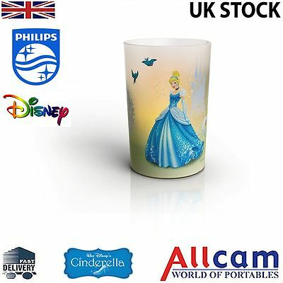 Philips Disney Princess LED Candle Lamp Children's Night Light Cinderella, New
