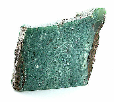 218 Gram AAA Natural Blue Green Translucent Chrysoprase Slab Cab Cabochon Rough