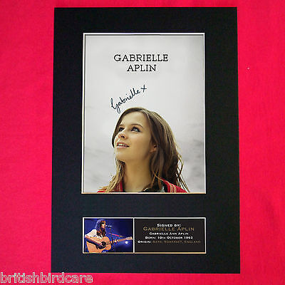 GABRIELLE APLIN Autograph Mounted Photo REPRO QUALITY PRINT A4 384