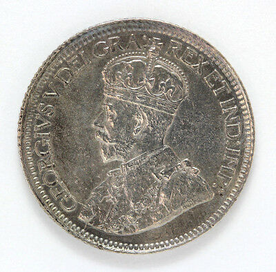 1914 Canada Silver 10 Cent George V Km23 - 91903h