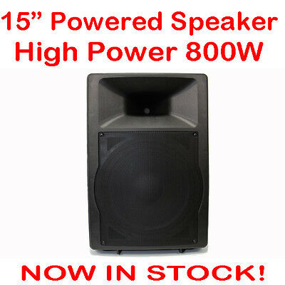 MaxAV 15 Inch Powered Audio Speaker PA Cabinet Box Active DJ Stage Monitor 15""