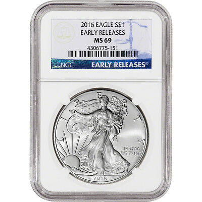 2016 American Silver Eagle - NGC MS69 - Early Releases