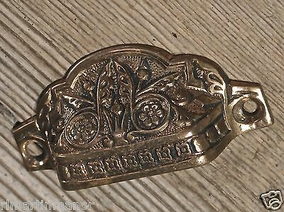 "old Drawer handle door pull butterfly 2 1/2"" cast bronze fine vintage PAT 1870"