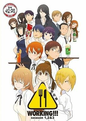 WORKING!! Box Set | S1+S2+S3 | Episodes 01-39 | English Subs | 4 DVDs (HF849)-LU