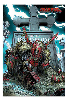 Deadpool Here Lies Deadpool Grave Poster New - Maxi Size 36 x 24 Inch