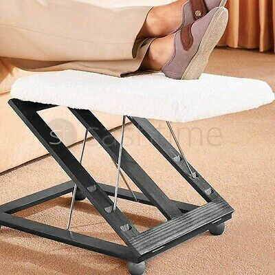 Comfortable Height & Angle Adjustable Footrest Foot Stool Leg Rest Support Relax