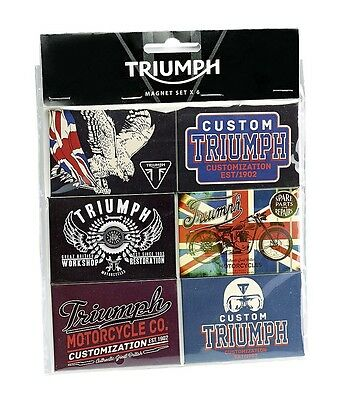 GENUINE Triumph Motorcycles Fridge Magnet Set (6)  NEW 2015