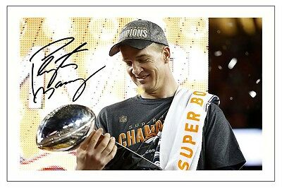 Peyton Manning Denver Broncos Super Bowl L 50 Signed Photo Print Nfl Football