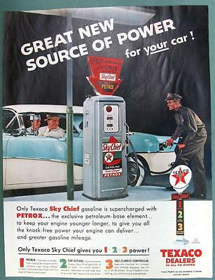 GREAT NEW SOURCE OF POWER Original 1956 Texaco Sky Chief Ad